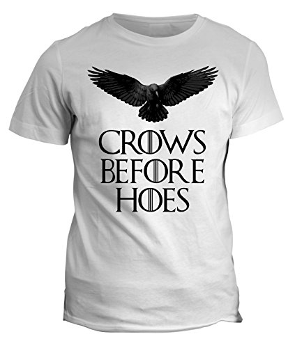 Tshirt Game of Thrones - Crows before hoes - il trono di spade serie tv - GOT7 - in cotone Bianco