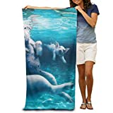 Gebrb Teli Mare/Asciugamano,Beach Towel Swimming Pigs Lightweight Absorbent Quick-Drying Spa Towels Swimsuit Bath And Shower Towel Beach Blanket for Women& Men,Girls&Boys