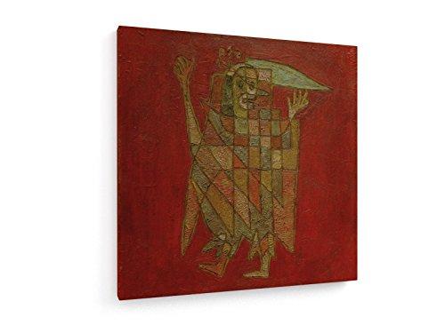 Paul Klee - Allegorische Figur - 1927-80x80 cm - Textil-Leinwandbild auf Keilrahmen - Wand-Bild - Kunst, Gemälde, Foto, Bild auf Leinwand - Alte Meister/Museum (Männliche Harlekin Kostüm)