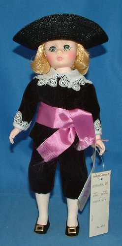 Vintage Madame Alexander #1390 Doll,Lord Fauntleroy,black Velvet Coat & Knickers W/lace Trim,black Straw Hat,purple Sash,booklet,name Tag,original Box,1970's Lace Velvet Hat
