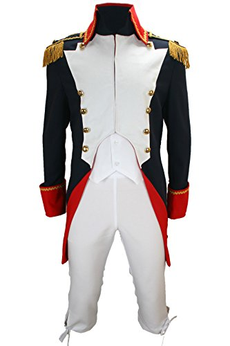 Kostüm Jacke TOP blau/rot/weiss Gr. 56 (Napoleon Kostüme)