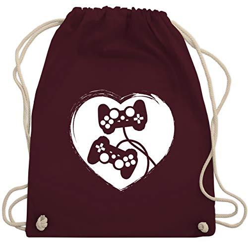 Valentinstag - Gamer Valentinstag - Unisize - Bordeauxrot - WM110 - Turnbeutel & Gym Bag