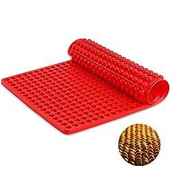 SveBake Silikon Backmatte - 1cm Halbkugel Silikonmatte mit Noppen - 468er Backform für Hundekekse & Hundeleckerlies, Backpapier - Backunterlage - Pralinenform, 40x29cm