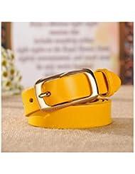 WZW Ceintures de cuir vachette simplicité dames décorées ceintures