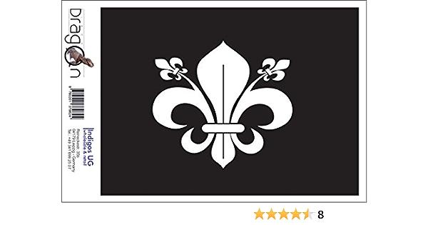 Indigos Ug Aufkleber Autoaufkleber Jdm Die Cut Auto Oem Französische Lilie 120x110 Mm Gelb Auto Laptop Tuning Sticker Heckscheibe Lkw Boot Auto