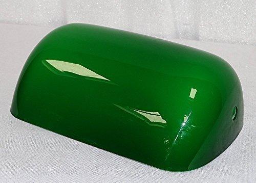 Lampenschirm für Bankerslampe, Ersatzschirm Banker Lampe, Grün - Weiß
