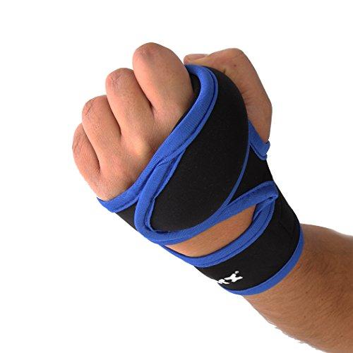 Gewichtshandschuhe 2x 1 Kg Hand - Gewichtsmanschetten Handgewicht Handgelenk Neopren XS