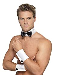 Smiffys Male Stripper Kit Collar Bow, Tie and Cuffs