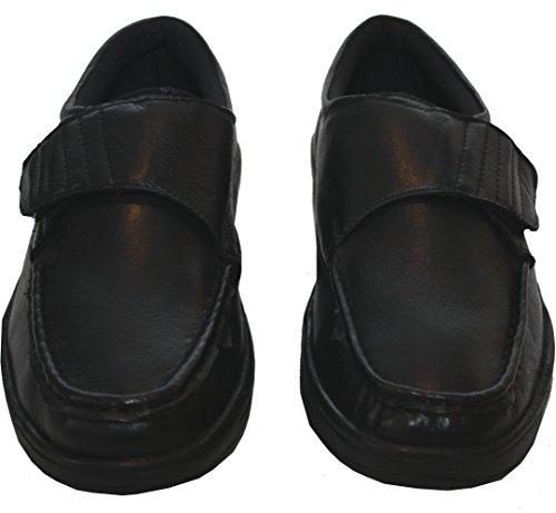 Dr KellerTexas Mens - chiusura strap Velcro Ragazzi uomo Black