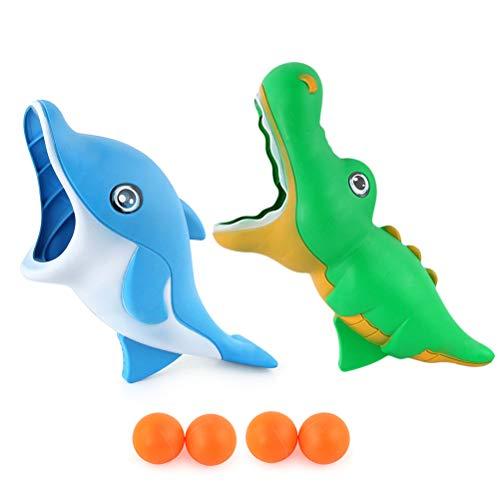 2 Pcs Kinder Cartoon Dolphin Dinosaurier Fangen Ball Spielzeug eltern-kind-Interaktive Werfen Ball Spielzeug Outdoor Sport Spiel werfen ball spielzeug