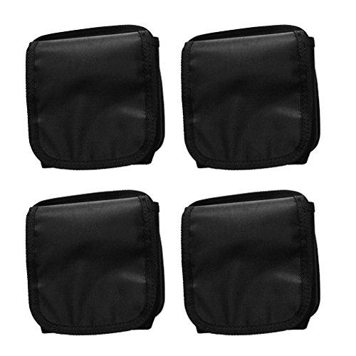 Gazechimp 4-teiliges Pack - Bleigurt Taschen, Max. Belastung: 20kg Tauchgürtel Zusätzliche Tauchgewichte Taschen (Schwarz)