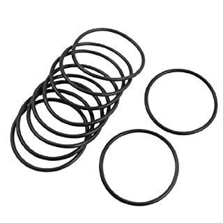 sourcingmap 10 Pcs 38mm Outside Dia 2mm Thick Rubber Flexible O Ring Seal Gasket