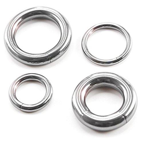 Stärke 6,0 mmDurchmesser 12-26 mm BCR Piercing-Ring Schmuck Schwarz