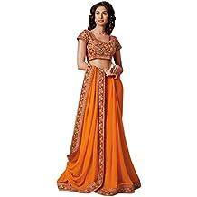 Jay Sarees - Sari - para mujer Naranja naranja única