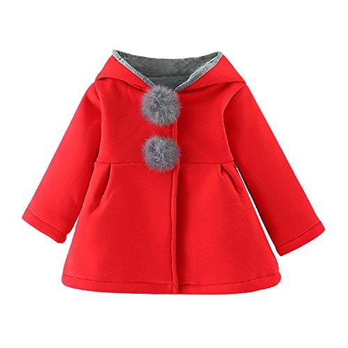 Bébé Infant Filles Confortable Chaud Mignon Oreilles de Lapin Hiver Chaud  Manteau Veste Épais Vêtements Chauds ef594c11fe3