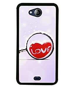 Fuson Designer Back Case Cover for Micromax Canvas Play Q355 (Hearts Spades Coffee Red Love )