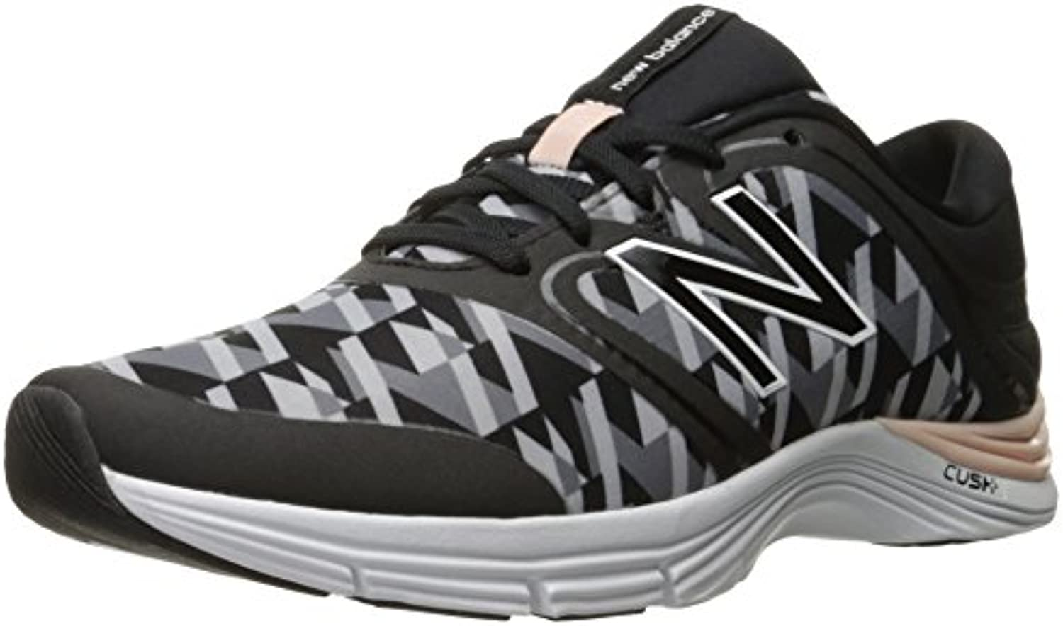 New Balance Women's 711v1 Training Shoe, Black/Graphic, EU 40.5