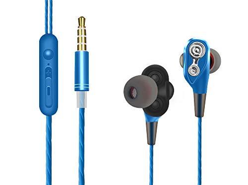 Auriculares Xiaomi Mi A2 Lite Auriculares con microfono Xiaomi Mi A2 Lite Doble Altavoz in Ear Dual Dynamic Drivers Estereo Auriculares con Cable Xiaomi Mi A2 Lite Cascos Mi A2 Lite (Azul)