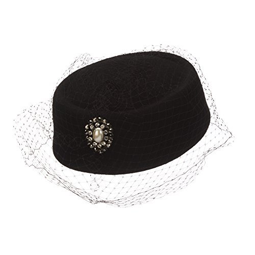scala-classico-womens-black-pillbox-church-hat-with-netting-clear