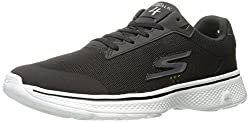 Skechers Performance Mens Go 4-Distance Walking Shoe, Black/White, 10 M US
