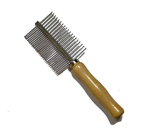 Pettine doppio a punte arrotondate - Accessorio per la cura del pelo di cani e gatti