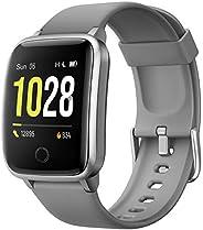 Willful Smartwatch,Pantalla de 1,3 Pulgadas Reloj Inteligente Impermeable IP68 con Pulsómetros para Mujer Homb