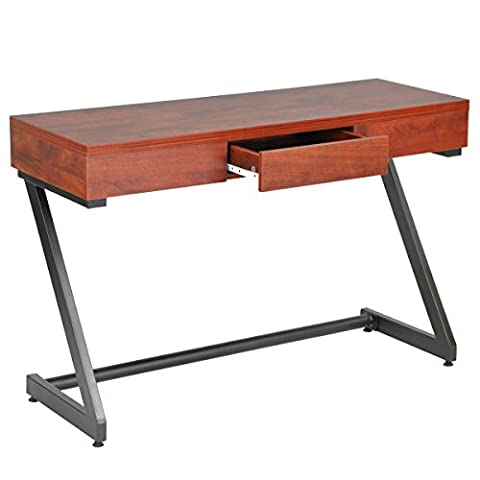 Fanilife Console Table Unique Design Wood Entryway Side Board with Drawer Multifunctional Storage Desk Brown