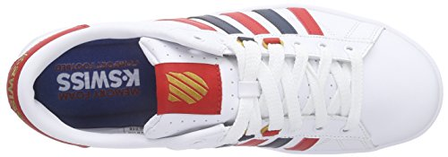 K-Swiss Hoke Cmf, Sneakers basses homme Blanc - Weiß (White/Ribbon Red/Dress Blues 164)