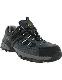 OTTAWA Damen Sicherheit Stahlkappe Leichte Schnürschuh Arbeit Schuh Trainer,Black Leather,40 EU/6 UK