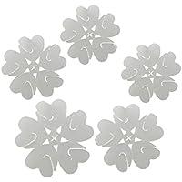 Hosaire 50PCS Clip Presilla De Lazo Del Globo Clip De Hebilla De Plástico Transparente Para Una Fiesta De Bodas Decoración