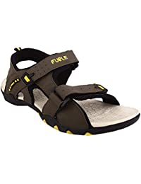 Fuel Men Grey Green Velcro Closure Casual Sandals & Floaters For Boy's