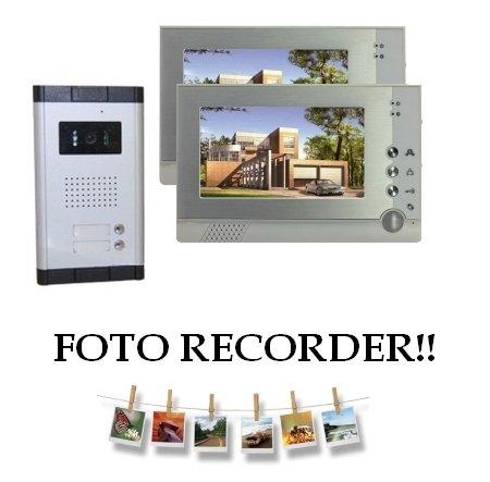Preisvergleich Produktbild Farb-Video-Türsprechanlage mit zweifachem 7 Zoll (17,78 cm) großem LCD-Monitor, DVR- Speicher und Bildspeicherfunktion