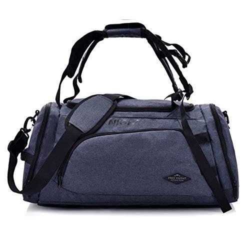 Camo Canvas Tote Bag (Miles Sail Canvas Herren Sporttasche für Fitness Reisegepäck Handtasche Tote Crossbody Training Große Kapazität Outdoor Camping Bag, Blau)