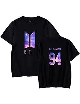 Gogofuture Donna KPOP BTS T-Shirt Manica Corta Bangtan Boys BTS Young Forever Sportive Maglietta Estive Bloom...