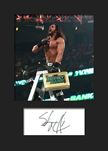 Seth Rollins WWE 2   Signierter Fotodruck   A5 Größe passend für 6x8 Zoll Rahmen   Maschinenschnitt   Fotoanzeige   Geschenk Sammlerstück -