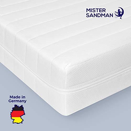Mister Sandman punktelastische Matratze mit 7-Zonen für mehr Schlafkomfort – Kaltschaummatratze H2/H3 mit ergonomischen Liegezonen, Höhe 15cm, 90x200 cm H3