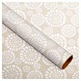 Case of 12 Asda Floral Gift Wrapping Paper Gift Wrap 2m Rolls (Grey)
