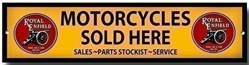 Royal Enfield Motocycles Vendu Here qualité métal panneau de garage pas cher