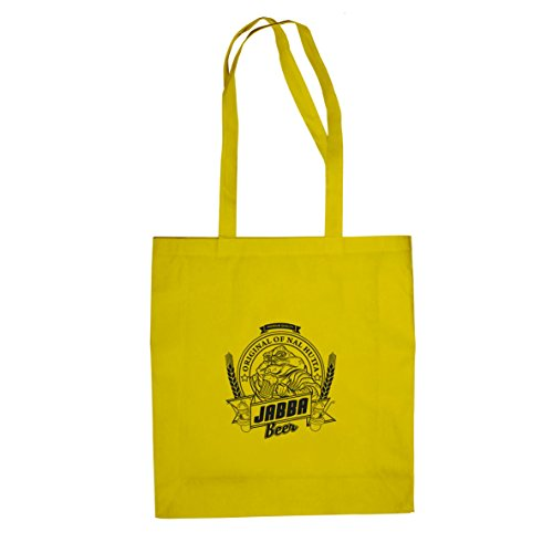 Planet Nerd Jabba Beer - Stofftasche/Beutel, Farbe: gelb (Jabba Kostüm)