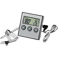 hotloop Digital Horno–termómetro y temporizador de alarma para el horno y termómetro para cocinar alimentos para barbacoa con Sonda
