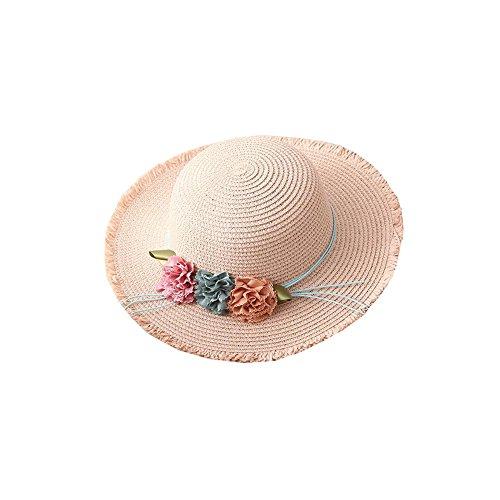 H.ZHOU Hüte & Mützen Sommer-Falten-weiblicher Sunhat-Sonnenschutz-Schatten-Strand-Hut-Strohhut Kinderkappe Eltern-Kind Kappe Großer Krempe-Hut Mutter Und Tochter (größe : Adult)