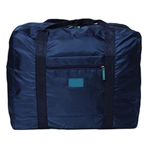 Sentao Wasserresistent Große Gepäck Tasche Kleidung Aufbewahrung Tragbares Handgepäck Faltbare Reisetasche Marine