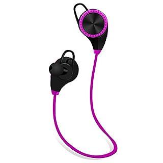 Drahtloser Nackenbügel Bluetooth Kopfhörer, Bluetooth Kopfhörer, Sweatproof v4. 1 Lärm reduzieren Kopfhörer Ohrhörer mit Mikrofon & Stereo für Sport mit magnetischer Anziehungspunkt