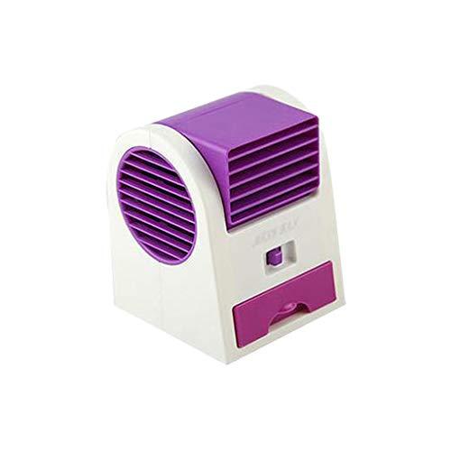 Mini Air Cooler Luftkühler Luftbefeuchter Luftreiniger,Nourich USB Tragbare Kühler Mobile Klimageräte Luftbefeuchter Ventilator Mobile Auto Kleine Klimaanlage Klimagerät Luftbefeuchtung (Lila) -