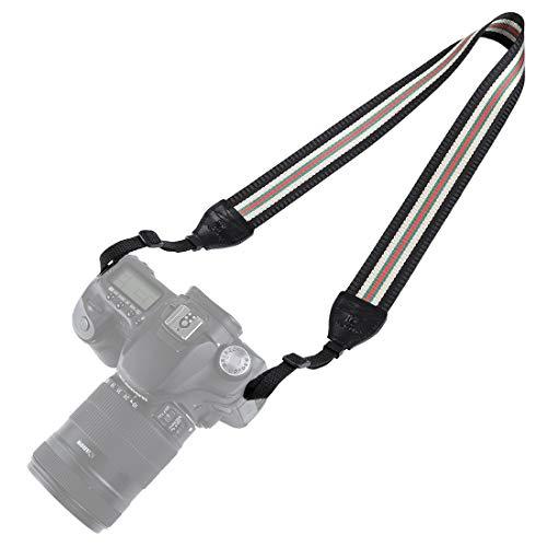 BYbrutek Kameragurt für DSLRs, Weich Kamera Schultergurt (universal passend), 150cm Long, 3.8cm Wide (6010B) - Canon Wide Strap