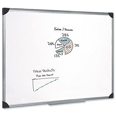 5 Star Whiteboard Drywipe Magnetic With Pen Tray And Aluminium Trim