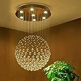 Modern Globus Entwurf Kristall Kronleuchter 6*GU10 Base Deckenleuchte für Wohnzimmer Schlafzimmer Kristall Lampenschirm Durchmesser 45 X Höhe 80 cm
