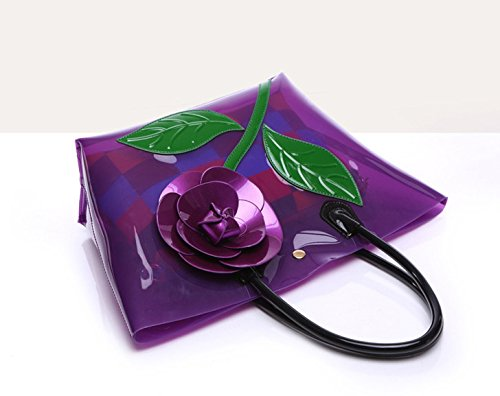 Flada, Borsa a mano donna viola Purple medium Pink