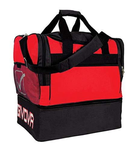 Giosal borsone calcio givova big 10 sport allenamento accessori rosso-nero