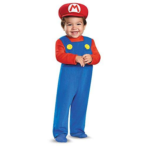 Generique Super Mario Kostüm für Kleinkinder 86 (12-18 Monate) (Baby Super Mario Kostüme)